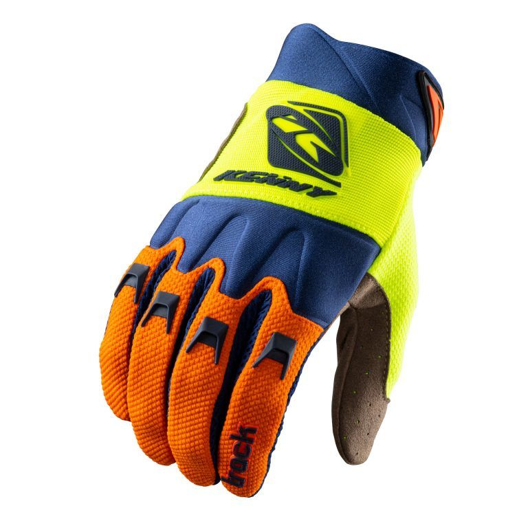 rukavice Kenny Racing Track Orange Navy Neon Yellow