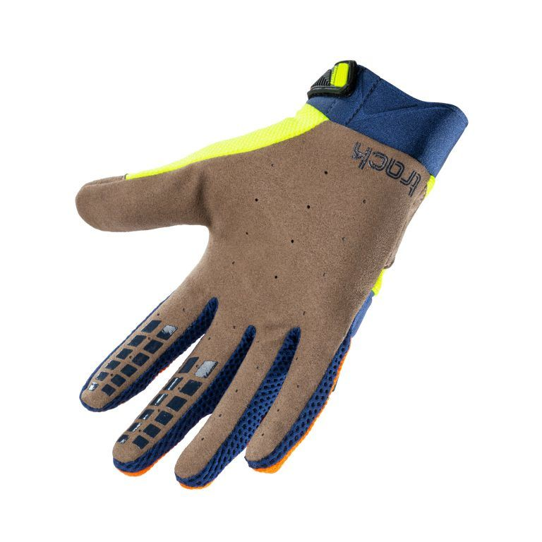 children's gloves Kenny Racing Track Orange Navy Neon Yellow