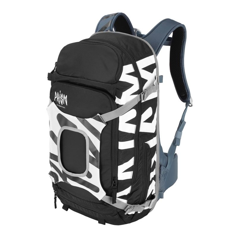 Prism Krypton 25L Set Black / Snow White - complete sports backpack with back protection