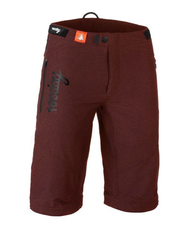 kraťasy Rocday Roc Shorts Dark Red Melange