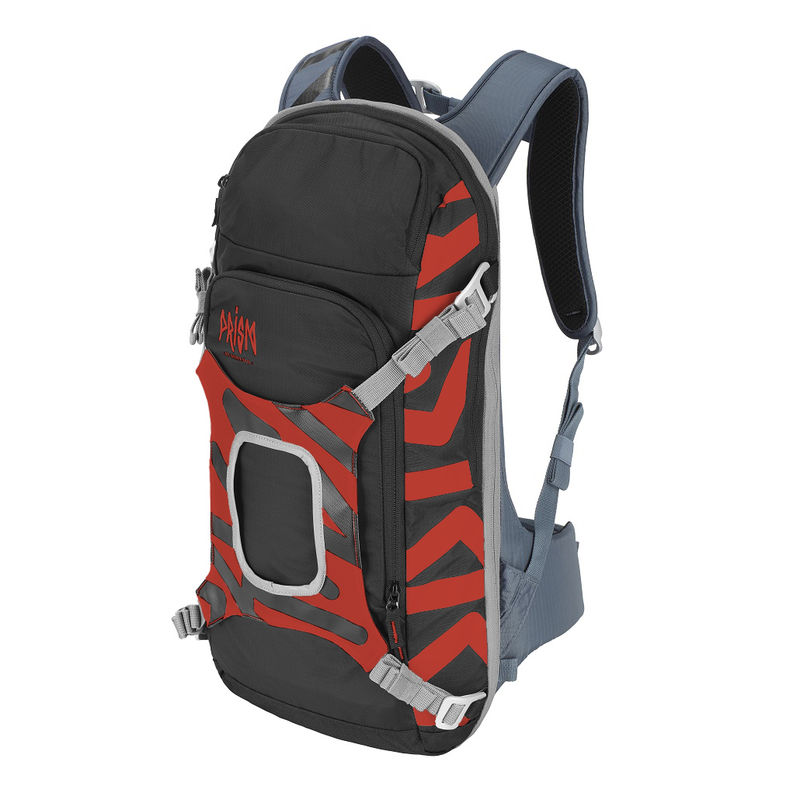 Prism Helium set 11L Set Orange Fire - complete sports backpack with back protection