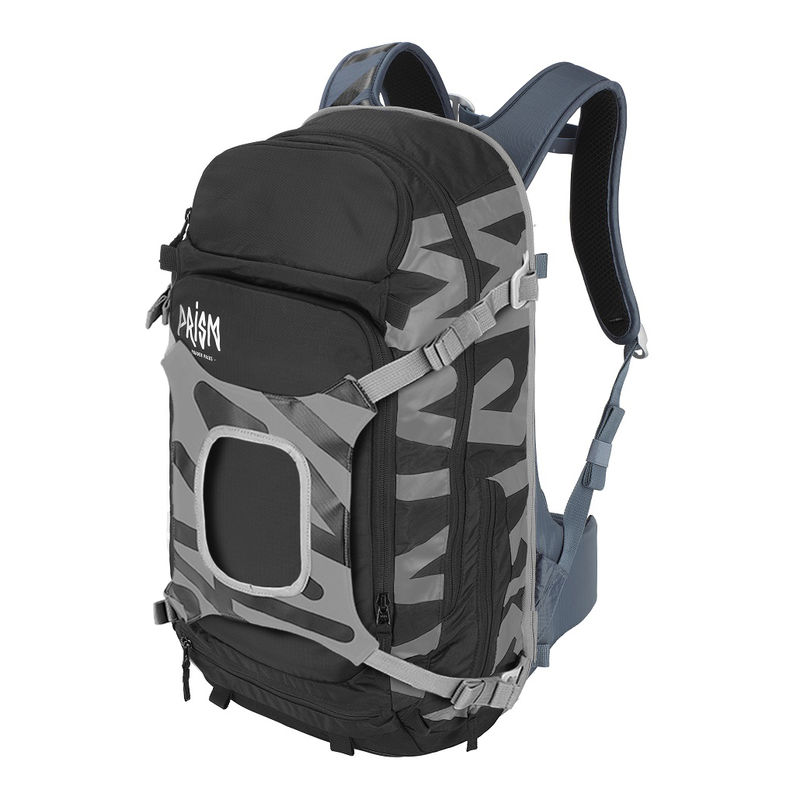 Prism Krypton 25L Set Black / Gray Iron - complete sports backpack with back protection