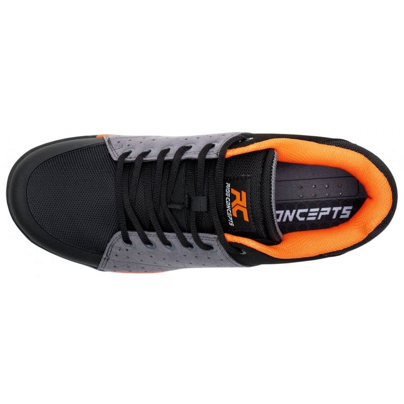 Ride Concept Livewire YOUTH - Charcoal / Orange - children's MTB shoes for platform pedals